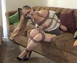 Secretary Roped and Gagged