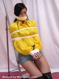 Sexy Yellow Blouse Bondage