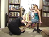Behind The Scenes With Stacie Snow Part 2 - Knees Tied