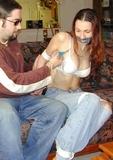 Cutting Off Her Bra