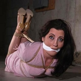 Hogtied In Her Business Suit and Sexy Strappy High Heels