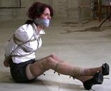 Secretary in Peek Toe Pumps living out her paid bondage fantasy