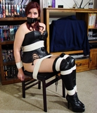Leather Corset & Thigh High Stiletto Heeled Boots