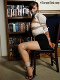 Sasha Fae's Sexy Tittie Bondage Struggle