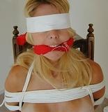 Sherri Blindfolded and Waiting