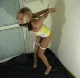 Pantyhose Strappado Struggle - Classic Kate Blonde Video (Smaller sized 320 x 240), Blonde, Cleave Gagged, Strappado, Pantyhose