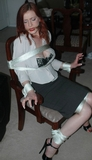 Chair Tied Secretary, Titties Popping Out