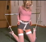 Kate Blonde: Jean Skirt and Crotch Rope