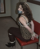 Roped and Tape Gagged in High Heeled Boots