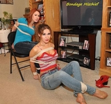 Chrissy & Blair: The Cable Guy - Bare Feet, Multiple Women Bound, Tape Gagged