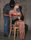 Clay Beauea: Secretary Bound, Gagged, Breasts Exposed