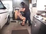 Lisa Steele Bound In RopExpert's Hideout, Her Bra Cut Off!