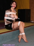 Lizbeth, Mouth Stuffed and Clear Tape Gagged