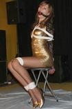 Oceanee - Sexy Gold Dress Struggle