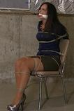 Chair Tied Bondage Struggle