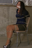 Chair Tied Bondage Struggle