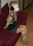 Jennie Blindfolded, Ear Muffs and Gagged
