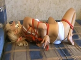 Frances Stripped To Bra & Panties, Rope Escape Challenge