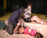 Lizabeth, FridaSol Hogtied on Screen