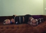 Kate Blonde Date Night - Sexy little black dress, pantyhose and a big ball gag ... I love date night!