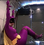 Super Heroine Struggling in the back of the RopExpert Van! Looks like RopExpert.com got himself a super one this time. Who wouldn't want a super heroine roped, gagged and struggling in their van?