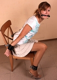 Leather Cuffs and Bit Gagged ... YeHaw!