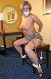 Nicole Grey Topless Tittie Chair Tie Struggle