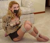 Savannah, Stockings, Tight Rope & Cleavage!