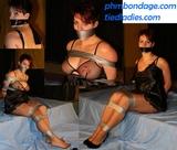Lizabeth Pantyhose Tape Tied Struggle