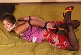 Carmen's Hogtied Struggle with Tightly Cinched Elbows