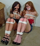 I Tried to Warn You! Now we're both topless, bound and gagged!!!!!!