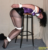 Maryol Bent Over The Stool and Bound For a Spanking