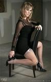 Silk Stocking Secretary Posing Just For You Big Boss