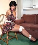 Delilah's Sexy Sundress & Stilettos Bondage Struggle
