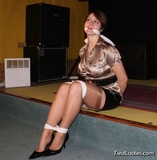 Satin Blouse, Stilettos and Silk Stockings