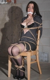 Carmen Chair Tied With Happy Titties Popping Out!