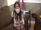 Ashley Renee is a Tightly Bound and Gagged Co-Operative Captive