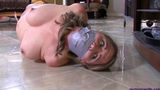 Chrissy Marie Nude, Hogtied & Sockgagged Squirming around her House!