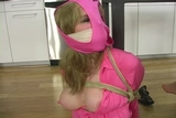 DW-39 F - Lovely Ladies Bound and Gagged in Silky Pantyhose
