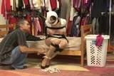 DW-40 B - Pantyhooded & Humiliated!!