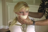 DW-41 B - College Cheerleaders & Schoolgirls Tightly Bound and Gagged!!