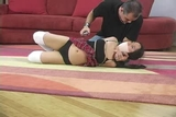 DW-41 D - College Cheerleaders & Schoolgirls Tightly Bound and Gagged!!