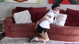 Nicole Oring is a Tightly Hogtied & Sockgagged Babysitter!