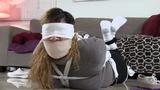 Olivia Torn Sheet Bound, Gagged & Blindfolded in: Bondage Games Gone Wrong!