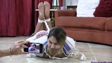 Mandy Slade Hogtied, Gagged & Frustrated by her Stalker in:  STALKED!***28 minutes Long***