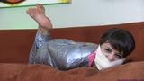 Raquel is a Mummified, Gagged & Furious Babysitter!