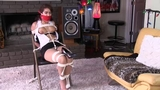 Kitty is a Tightly Bound, Gagged & Frustrated Victim of a Jealous Co-Worker!