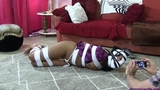 Taylor Summers Bound & PantyGagged in Lipstick Lesbian Panty Huffing Humiliation!