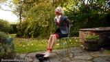 VID0410: Chloe Toy Tied In Her Own Garden