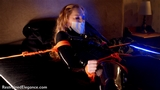 VID0607: Catsuited super spy Ariel Anderssen captured and put in orgasm deathtrap!